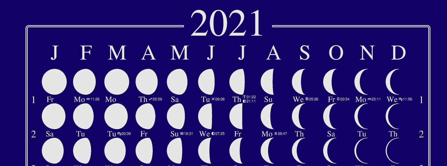Moon Calendar close up
