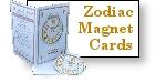 Zodiac Sign Fridge Magnet and Card
